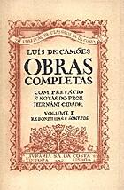 Obras Completas - Vol. I by Luís Vaz de…