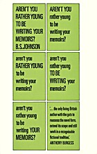 Aren't you rather young to be writing your…