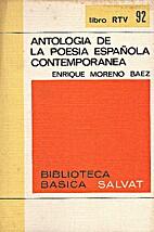 Antología de la poesía española…