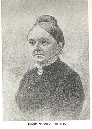 Author photo. Rose Terry Cooke (1827-1892) Buffalo Electrotype and Engraving Co., Buffalo, N.Y.
