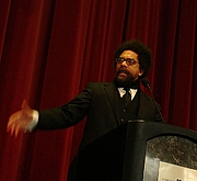 Author photo. Cornel West, 17 January 2008. Photo taken by Esther.