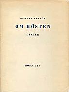 Om hösten by Gunnar Ekelöf