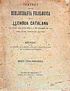 Pertret per una bibliografía filologica de…
