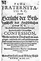 Confessio Fraternitatis Bekenntnis der…