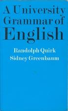 A University Grammar of English by Randolph…