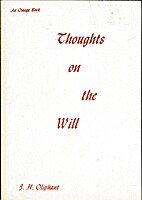 Thoughts on the Will by J. H. Oliphant