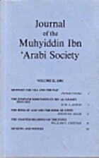 Journal of the Muhyiddin Ibn 'Arabi Society…