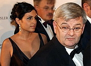 Author photo. Joschka Fischer and wife Minu <br>(Credit: Ickolle, Wikipedia user)