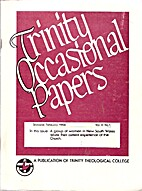 Trinity occasional papers : a publication of…