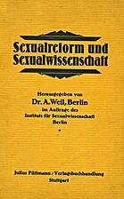 Sexualreform und Sexualwissenschaft :…