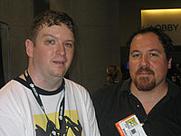 Author photo. Jon Favreau (right) with Ron Hogan, <br>San Diego Comic Con 2006<br>Copyright © 2006 <a href=&quot;http://ronhogan.tumblr.com&quot;>Ron Hogan</a>
