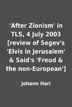 'After Zionism' in TLS, 4 July 2003 [review…