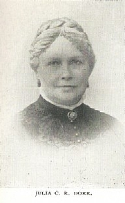 Author photo. Julia Caroline Ripley Dorr [aka Caroline Thomas] (1825-1913) Buffalo Electrotype and Engraving Co., Buffalo, N.Y.
