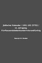 Jüdischer Kalender / 1991-192 (5752) / 11.…