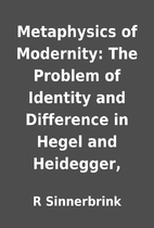 Metaphysics of Modernity: The Problem of…