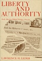 Liberty and authority; early American…