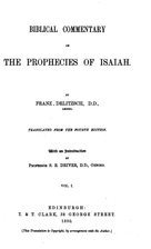 Keil and Delitzsch: Biblical commentary on…
