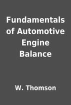 Fundamentals of Automotive Engine Balance by…