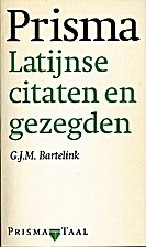 Latijnse citaten en gezegden by G. J. M.…