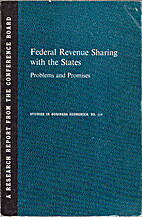 Federal Revenue Sharing with the States:…