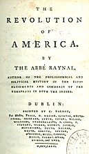 The Revolution of America. (1781) by Abbé…
