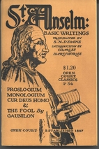 St. Anselm Basic Writings: Proslogium,…