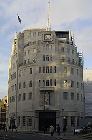 Author photo. BBC Broadcasting House, London, UK
