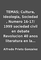 TEMAS; Cultura, Ideologia, Sociedad , Numero…