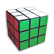 Author photo. TheCoffee's Rubik's Cube in solved state (photo credit: TheCoffee, Wikipedia user)