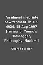 'An almost inebriate bewitchment' in TLS…