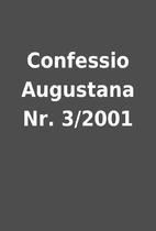 Confessio Augustana Nr. 3/2001