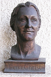 Author photo. Bust of Lena Christ.  Photo by Bernhard Nowotny / Wikimedia Commons.