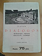 Diálogos. Tomo III by Platón