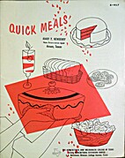 Quick Meals (B-927) by Marie; Cox Tribble,…