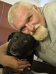 Author photo. with my best friend Kida