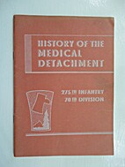 History of the Medical Detachment.