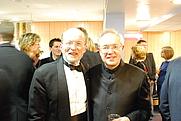 Author photo. Cleobury (right) with Philip Brunelle (left) in 2009