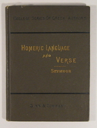 Homeric Language and Verse by Thomas D.…