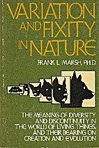 Variation And Fixity In Nature: The Meaning…