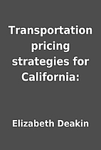 Transportation pricing strategies for…