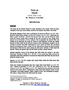 Notes on Mark by Thomas L. Constable