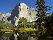 Author photo. El Capitan and Merced River, Yosemite National Park, California