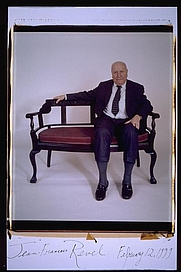 Author photo. Jean Francois Revel polaroid portriat 1999 taken by Elsa Dorfman