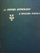 An Oxford Anthology of English Poetry by…