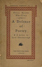 A defence of poetry and A letter to Lord…