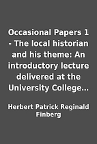 Occasional Papers 1 - The local historian…