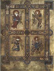 Author photo. The four evangelist symbols (Folio 27v of the Book of Kells) (Wikipedia)