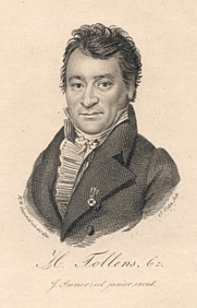 Author photo. Engraving (1820), by P. Velijn after a drawing by H.W. Caspari