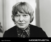 Author photo. Inger Christensen - Modernista