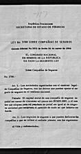 Ley No. 3788 sobre compañías de seguros by…